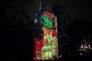 3д проекция на дом. La Casa Batllo 3d Projection